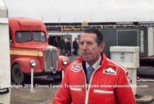 Rob Walker. Photo. Silverstone paddock Daily Express Trophy 1975